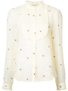 Блузка с цветочным узором и оборками Vanessa Bruno