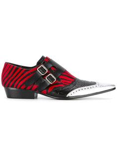 zebra print monk shoes Haider Ackermann