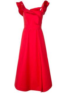расклешенное платье с оборками Vika Gazinskaya