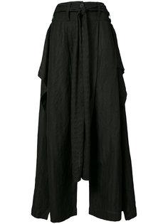 широкие брюки с драпировкой Barbara I Gongini