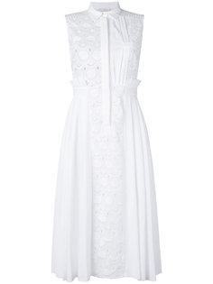 платье без рукавов со складками по бокам Capucci