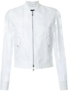 куртка-бомбер с прозрачными рукавами Loveless