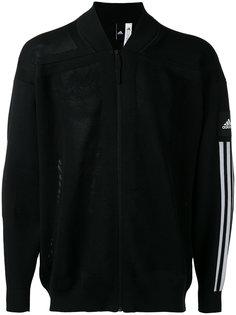 куртка-бомбер с полосками на рукавах Adidas