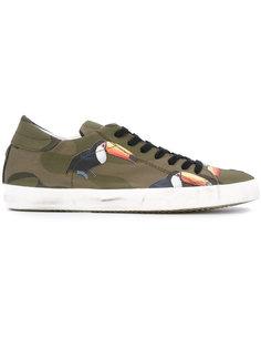 кроссовки с туканами Philippe Model