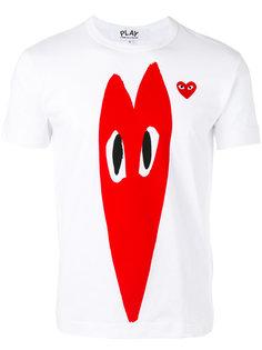 футболка с принтом-сердцем Comme Des Garçons Play