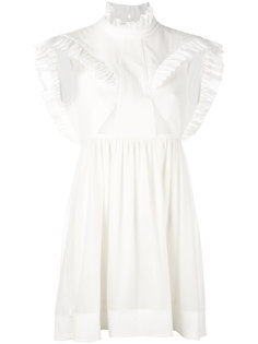 платье без рукавов с оборками  Paco Rabanne