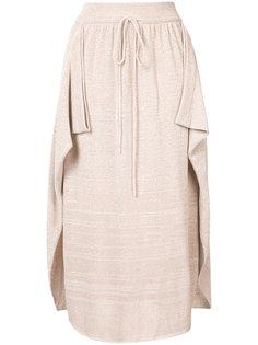 Текстурированная юбка-миди Stella McCartney