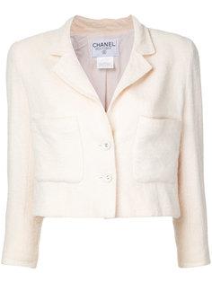 Жакет с логотипом на пуговицах CC Chanel Vintage