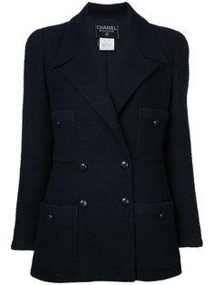 пиджак с логотипом на пуговицах CC Chanel Vintage