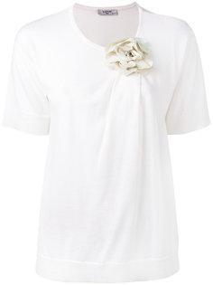 футболка декорированная цветком Lanvin