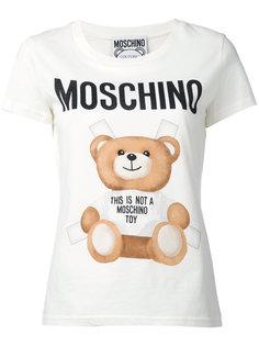 футболка с принтом медвежонка  Moschino