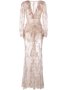 кружевное платье со сборкой Alessandra Rich