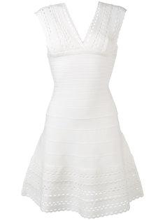 расклешенное платье с вырезами  Hervé Léger
