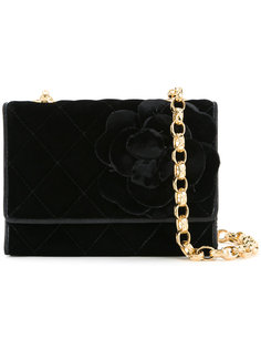 сумка с цветочным декором Chanel Vintage