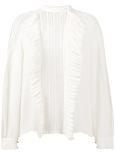 вязаная блуза с рюшами Philosophy Di Lorenzo Serafini