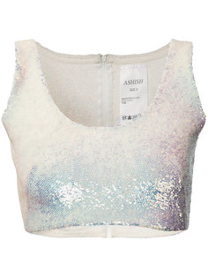 sequin crop top Ashish