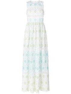 вязаное крючком платье с цветами Huishan Zhang