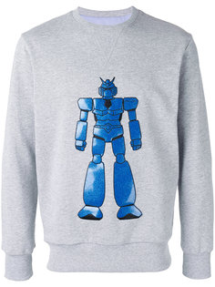 embroidered robot sweatshirt  Lc23