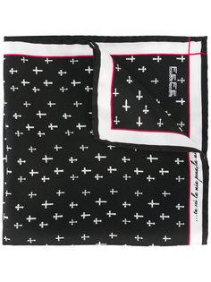printed crosses pocket square  Fefè