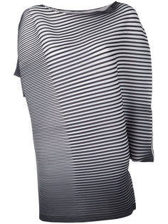 asymmetric stripe blouse Issey Miyake