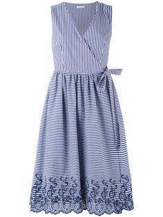 платье миди в полоску без рукавов с запахом  P.A.R.O.S.H.