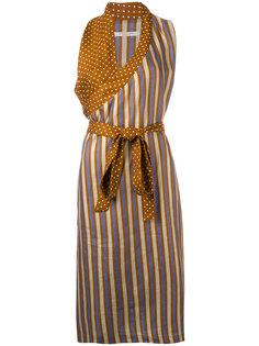 striped wrap dress Ermanno Gallamini