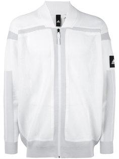 толстовка на молнии с панельным дизайном Adidas