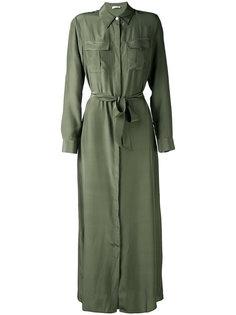 длинное платье-рубашка P.A.R.O.S.H.
