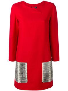 платье с контрастными карманами Salvatore Ferragamo