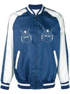 robots print bomber jacket  Lc23