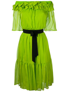 платье с открытыми плечами и завязками Marco Bologna