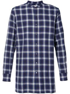 клетчатая рубашка без воротника Ovadia & Sons