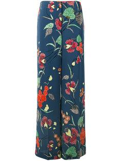 брюки-палаццо с цветочным рисунком Diane Von Furstenberg