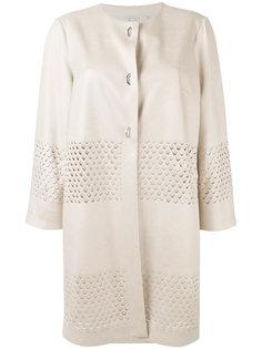 пальто с декоративными прорезями D.Exterior