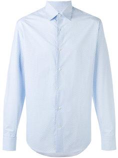 рубашка с узором из логотипов Salvatore Ferragamo