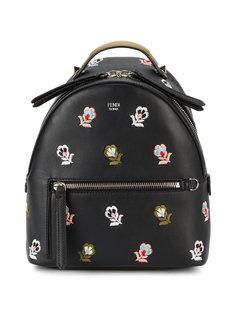 маленький рюкзак с цветочной вышивкой Fendi