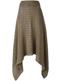 юбка с неравномерным подолом Stella McCartney