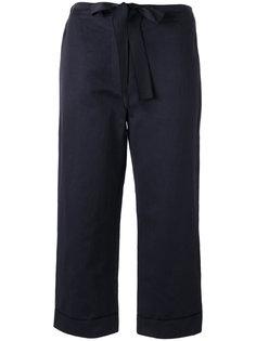 укороченные брюки с поясом Sara Lanzi