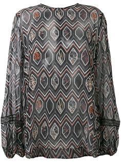 блузка с геометрическим узором Giambattista Valli
