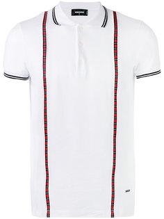 рубашка-поло с клетчатой отделкой Dsquared2