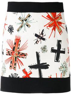 юбка с рисунком из крестов Fausto Puglisi