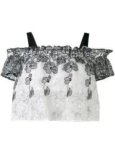 блузка с отделкой оборками Blugirl
