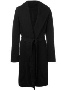 пальто с поясом Rick Owens DRKSHDW
