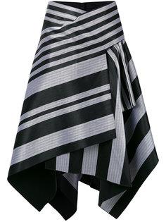 полосатая асимметричная юбка Proenza Schouler