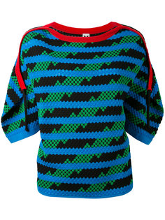 трикотажная блузка с зигзагообразным принтом M Missoni