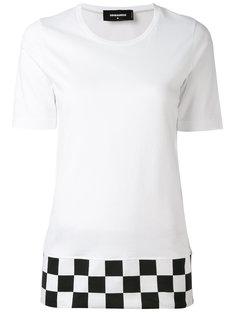 футболка с клетчатым подолом Dsquared2
