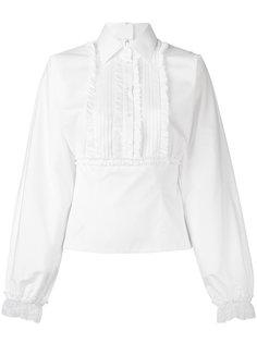 рубашка с отделкой оборками Dolce & Gabbana