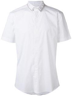 приталенная рубашка с короткими рукавами  Les Hommes