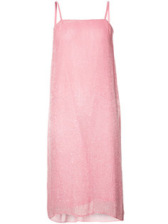 beaded chiffon slip dress Ashish