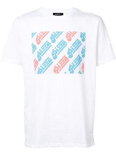 футболка Pizza  A.P.C.